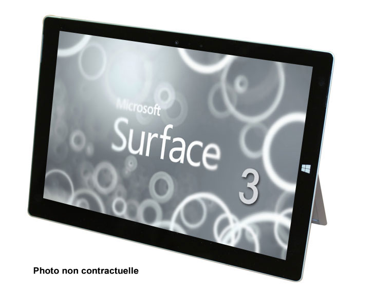 Microsoft Surface 3 - Tactile / Webcam / Full HD
